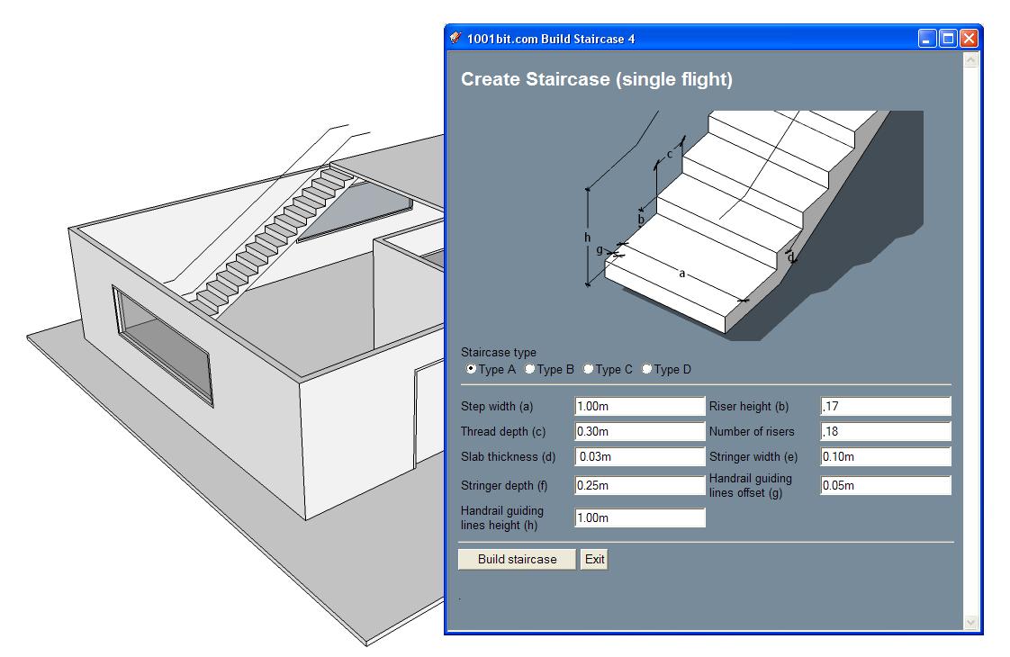 Dicas de BIM - 1001bit Tools: crie automaticamente escadas